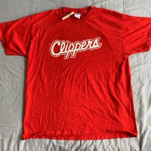 LOS ANGELES CLIPPERS RED LOGO TSHIRT